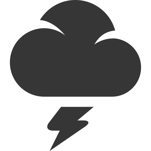 cloud, flash, grey, storm, weather icon
