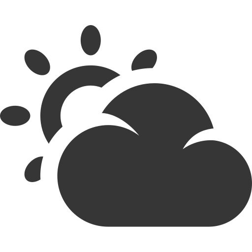 clody, grey, partly cloud, sun, sunny, weather icon