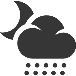 cloud, grey, moon, night, rain, snow, weather icon