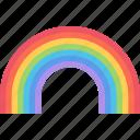 climate, rainbow, sky, weather