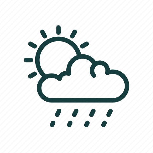 cloud, cloudy, nature, signs, sun, sunny, weather icon