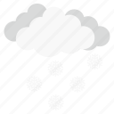 cloud, cloudy, forecast, snow, weather icon