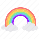 nature, rainbow, sky icon