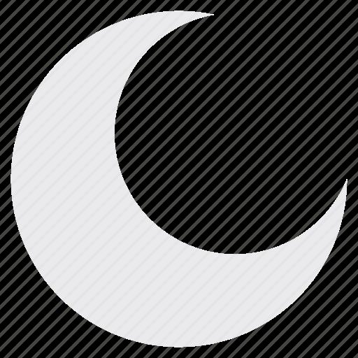moon, night, sky, weather icon