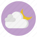 cloud, forecast, moon, nature, weather icon