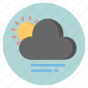 cloud, forecast, nature, sun, weather icon
