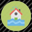 forecast, house, nature, raining, weather icon