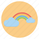 cloud, forecast, nature, rainbow, weather icon