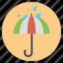 forecast, nature, raining, umbrella, weather icon