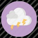 cloud, forecast, nature, thunder, weather icon