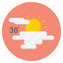 forecast, hot, nature, sun, weather icon