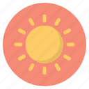 forecast, nature, sun, weather icon