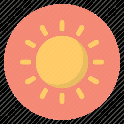 forecast, nature, sun, weather icon