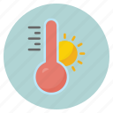 forecast, hot, nature, summer, sun, weather icon