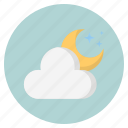 cloud, forecast, naturemoon, weather icon
