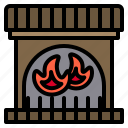 calm, fireplace, indoors, living, professional, sweater icon