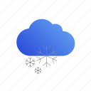 cloud, snow, storm, weather icon