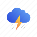cloud, rain, thunder, weather icon
