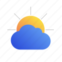 cloud, day, sun, weather icon
