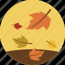 autumn, fall, foliage, leaves, maple, season, weather icon