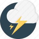 cloud, cold, flash, lightning, stormy, thunderbolts, thunderstorm icon