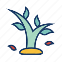 fall, leaves, nature, plant, season, tree, weather icon