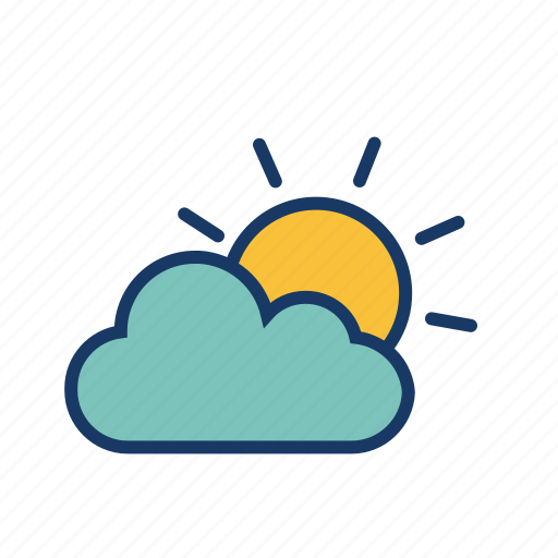 cloud, cloudy, heat, summer, sun, sunrise, sunset icon