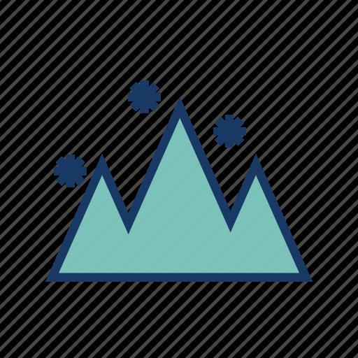 hailstones, mountain, season, snow, snowfall, winter icon