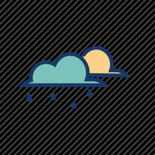 breeze, cloud, drizzle, rain, raining, rainy, weather icon