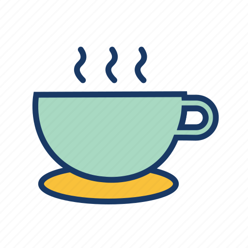 cafe, hot coffee, hot cup, hot drink, morning coffee, tea icon