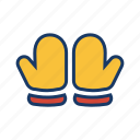 christmas, cold, snow, winter, winter glove, xmas icon
