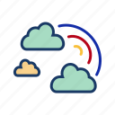 clouds, colour, rain, rainbow, spectrum, vibgyor, weather icon
