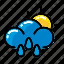 cloud, rain, sun