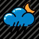 cloud, rain, wind