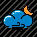 cloud, moon, wind