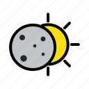 moon, sky, sun, weather icon