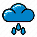 climate, cloud, rain, weather icon