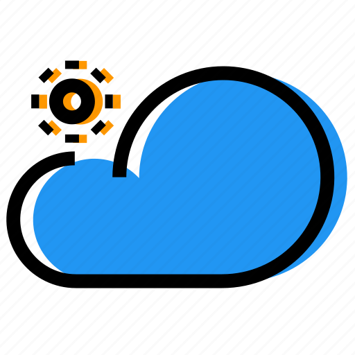 cloud, day, forecast, sky, sun, synoptic, weather icon