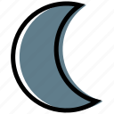 cloud, forecast, moon, night, synoptic, weather icon