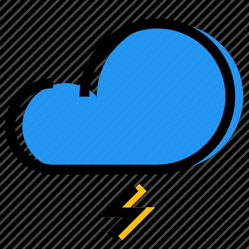 cloud, forecast, lightning, sky, synoptic, weather icon