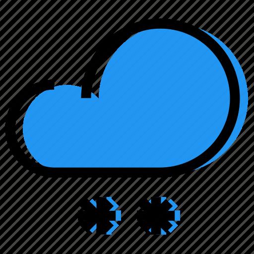 cloud, forecast, sky, snow, snowfall, synoptic, weather icon