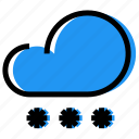 cloud, forecast, sky, snow, snowfall, synoptic, weather icon