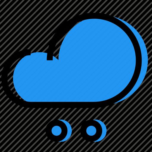 cloud, hailstones, rain, sky, synoptic, weather icon