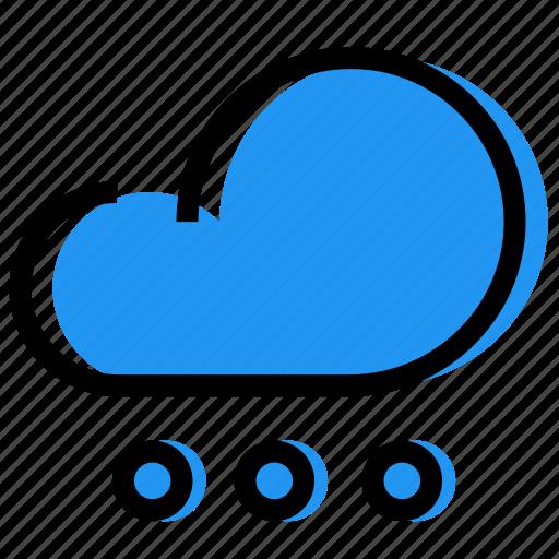 cloud, forecast, hailstones, rain, sky, synoptic, weather icon