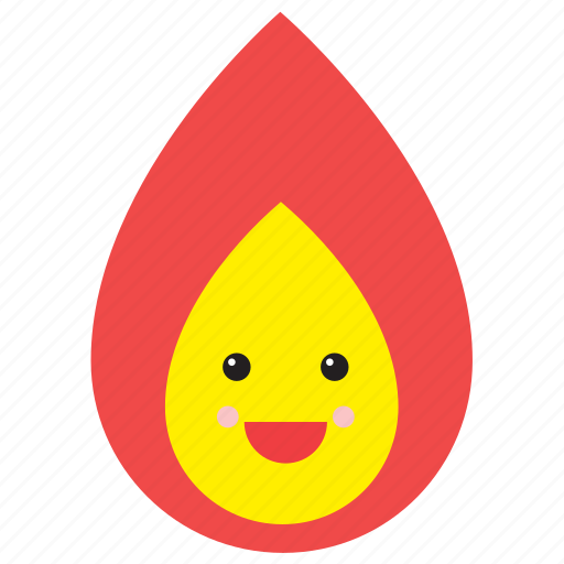 emoji, emoticon, face, fire, flame, smiley, weather icon
