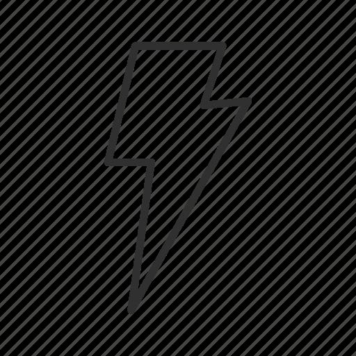 bolt, electric, electrical storm, energy, lightning, lightning strike, thunder icon