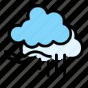 climate, cloud, downpour, forecast, sky, weather icon