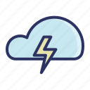 cloud, light, storm, thunderstorm, weather icon