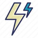 flash, lightning, storm, thunder, weather icon