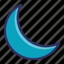 moon, night, sleep, weather icon